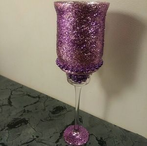 Other - Hot pink glitter candle holders